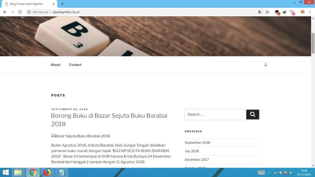 website pribadi, blog